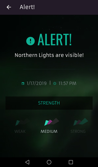 App screenshot english alert view
