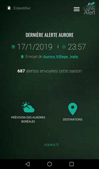 App screenshot french front view